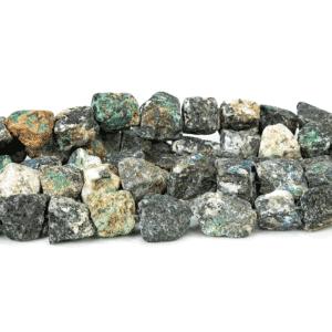 Azurit raue Nuggets ca. 16 x 21 mm, 1 Strang