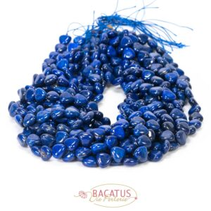 Lapis lazuli implied hearts 12 mm, 1 strand
