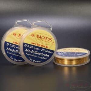 (0,18€–1,18€/m) Modellierdraht Kupferdraht vergoldet Ø 0,2 – 1 mm