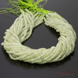 Prehnit Heishi-Perlen grün ca. 2x4mm, 1 Strang