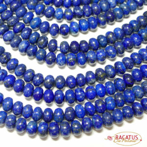 Lapis lazuli rondelle size selection, 1 strand