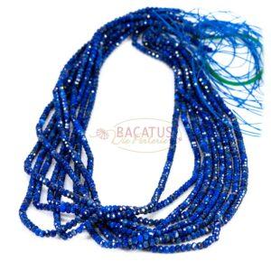 Lapis lazuli rondelle faceted 2x3mm, 1 strand