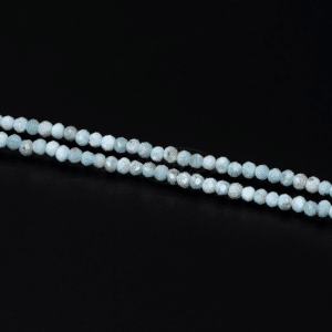 Larimar Rondelle facettiert meerblau 2x3mm, 1 Strang