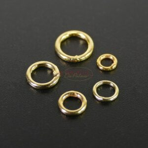 Binder rings closed 925 silver * gold-plated * Ø 4.5 – 7 mm 10 pieces