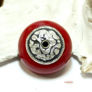 Mila pearl cherry red approx. 19×25 mm