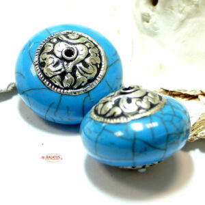 Mila pearl turquoise approx. 20×26 mm