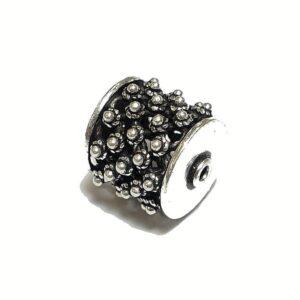 Walze mit Dots 925 Silber geschwärzt Ø 16×14 mm
