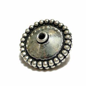 Diskus 925 Silber geschwärzt Ø 9×16 mm