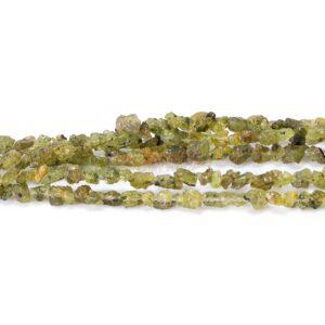Peridot nuggets grün 5 x 8 mm, 1 Strang