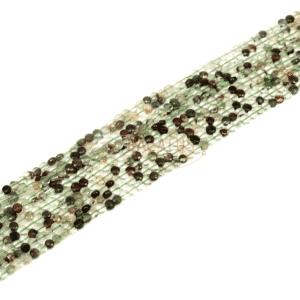 Phantomkristall Münzen facettiert ca. 4 mm, 1 Strang