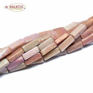 Rhodonit Quader 4 x 13 mm, 1 Strang