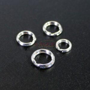 Split rings 925 silver Ø 5 – 7 mm 10 pieces