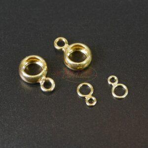 Double oeillet argent 925 * plaqué or * Ø5×3 – 5×8 mm