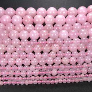 Rose quartz plain round glossy 2 – 16 mm, 1 strand