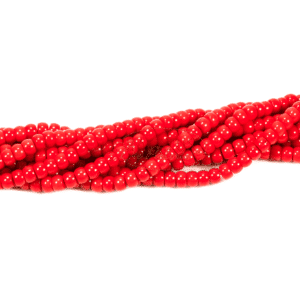 Schaumkoralle Rondelle rot ca. 4 x 6 mm, 1 Strang