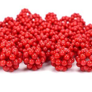 Schaumkoralle Ball glanz ca. 18 – 22 mm, 1 Stück