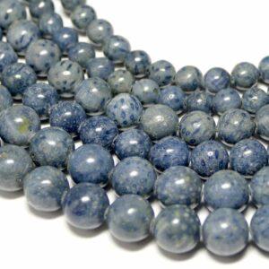 Schaumkoralle Kugel glanz blau 6 – 10 mm, 1 Strang