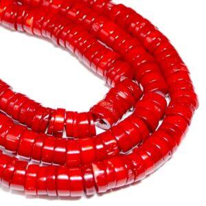 Schaumkoralle Räder rot 2 x 12 mm, 1 Strang