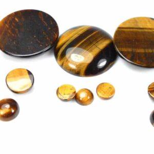 Tigerauge Cabochon gold braun 8 – 30 mm, 1 Stück