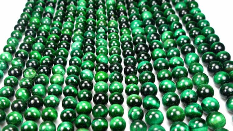 Tigerauge Kugel glanz grün 4-12mm