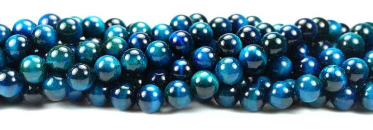 Tigerauge Kugel glanz blau 6-10mm