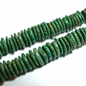 Turquoise slices dark green 10 to 20 mm, 1 strand