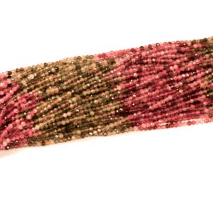 Turmalin Kugel facettiert sortiert 3 mm, 1 Strang