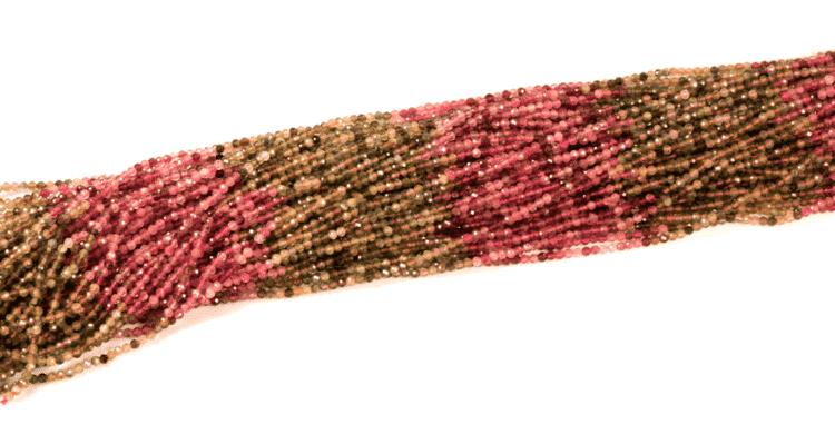 Turmalin Kugel facettiert sortiert 3mm