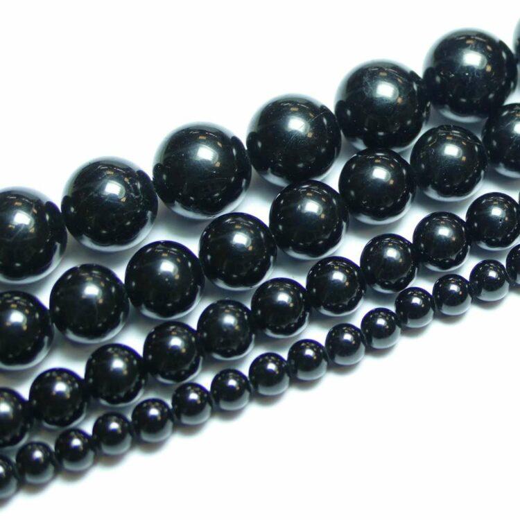 Turmalin Kugel glanz schwarz 4-12mm