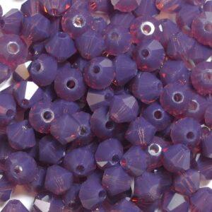 Crystal beads Bicone PRECIOSA amethyst opal 4 mm