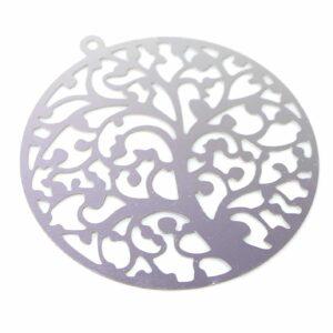 Baum Anhänger Scheibe Edelstahl 40 mm