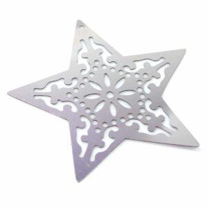 Disque pendentif étoile en acier inoxydable 50 mm