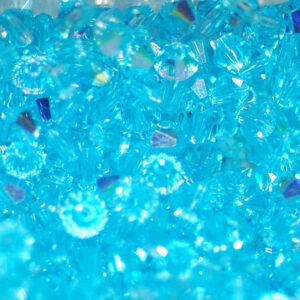 Perles de cristal Bicône PRECIOSA aqua bohemica AB 4-8 mm