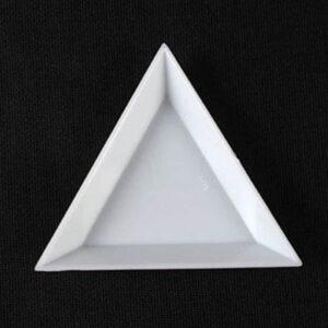 Sortierschale für Perlen Dreieck Kunststoff 7x5x1cm 3er Set