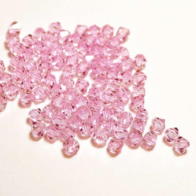 bicone pink sapphire