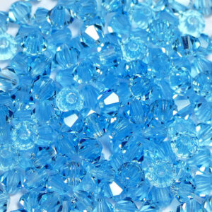 Crystal beads Bicone PRECIOSA aqua bohemica 4 & 6 mm
