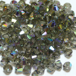 Crystal beads Bicone PRECIOSA black diamond AB 3 – 8 mm