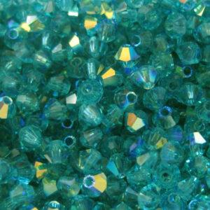 Kristallperlen Bicone PRECIOSA blue zircon AB 3 – 6 mm