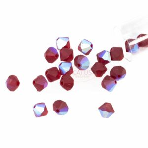 Kristallperlen Bicone PRECIOSA siam AB matt 6 & 8 mm