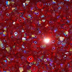 Kristallperlen Bicone PRECIOSA siam AB 3 – 6 mm