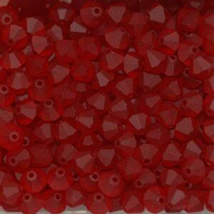Kristallperlen Bicone PRECIOSA siam matt 4 & 6 mm