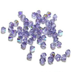 Kristallperlen Bicone PRECIOSA tanzanite AB 3 – 6 mm