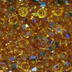 Kristallperlen Bicone PRECIOSA topaz AB 3 – 6 mm