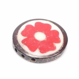 Knochenperle Blume 3-Loch Ø 24x5mm