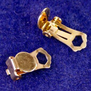 Ohrclips mit Platte 925 Silber *vergoldet* 8mm 1 Stück