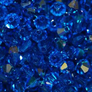 Perle di cristallo Bicono PRECIOSA capri blu AB 3 – 6 mm