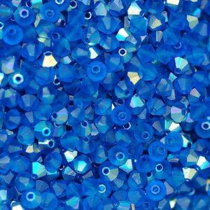 Perle di cristallo Bicono PRECIOSA capri blu AB opaco 3 – 6 mm