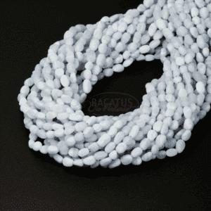 Pépites de calcédoine, mat env.3 x 5 mm, 1 fil
