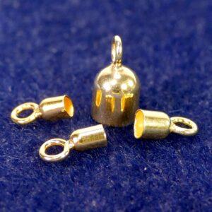 Endhülsen geschlossene Öse 925 Silber *vergoldet* Ø 2-5 mm