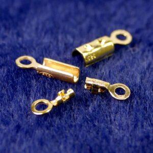 Endkappen Endteile Perlseide + Draht 925 Silber *vergoldet* Ø 0,5-1,5 mm